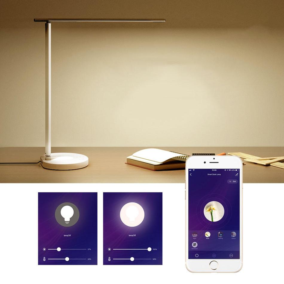 LyRay Smart WIFI Foldable LED Desk Lamp Eye Protection Work with Amazon Alexa and Google Assistant APP Contral