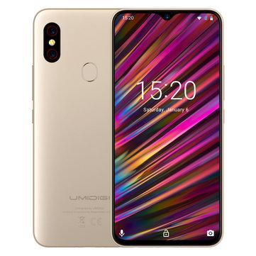 UMIDIGI F1 Global Bands 6.3 Inch FHD+ NFC 5150mAh Android 9.0 4GB RAM 128GB ROM Helio P60 Octa Core 2.0GHz 4G Smartphone