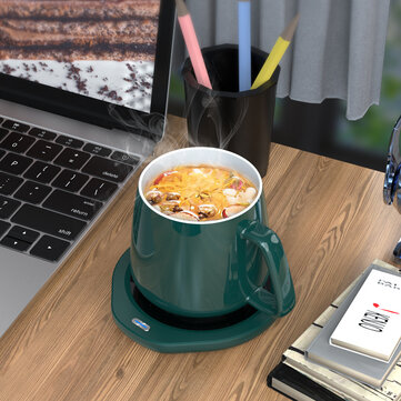 Loskii A203 55℃ Constant Temperature Cup Heating Mat 18W Two Gear Electric Tea Warmer 8H Automatic Power Off Protection for Home Office Travel