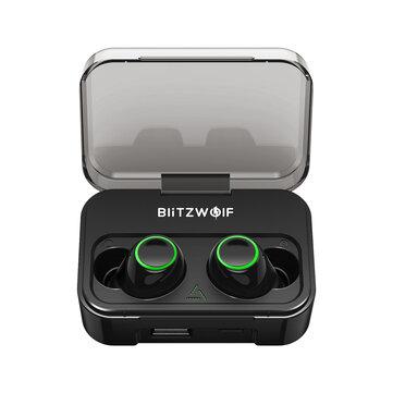 Blitzwolf® BWFYE3 True Wireless bluetooth 5.0 Earphone HiFi Bilateral Calls with 2600mAh Power Bank BWFYE3S