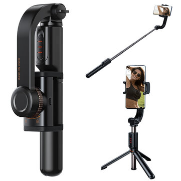Baseus Lovely bluetooth Stand Selfie Stabilizer Uniaxial Wireless Stabilizer Anti-Shake Shoot Telescopic Folding Tripod Selfie Stick