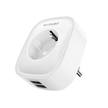 BlitzWolf® BW-SHP5 2.1A Dual USB Ports 16A Smart WIFI Socket EU Plug Work with Alexa Google Assistant BlitzWolf Tuya APP