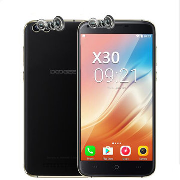 DOOGEE X30 5.5'' Dual Front&Rear Cameras 2GB RAM 16GB ROM MT6580A Octa-Core 1.3GHz 3G Smartphone