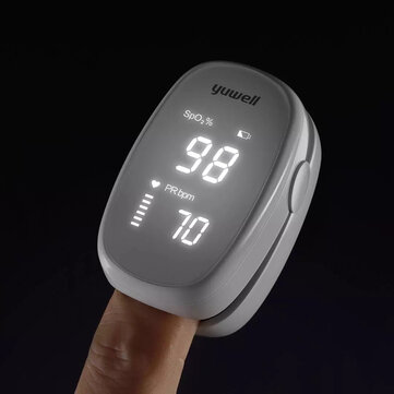 YUWELL YX102 Finger Clip LED Pulse Oximeter Photoelectric Portable Blood Oxygen Saturation Pulse Rate Detector Pulse Monitor for Health Care
