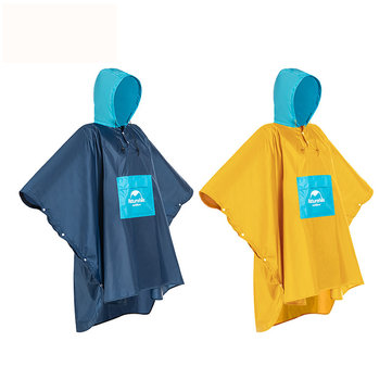 Naturehike NH19Y036-Y Portable Adult Raincoat Poncho Waterproof Windproof Foliding Rainwear