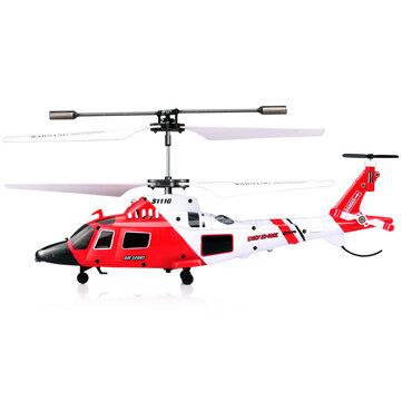 SYMA S111G 3.5CH 6 Gyros Flybar RC Helicopter RTF Coastguard Agusta Military Model Kids Toy