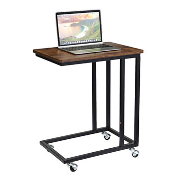 douxlife dl st02 mobile notebook table sliding c shaped table sofa side bench table with wheels for laptop home furniture supplies