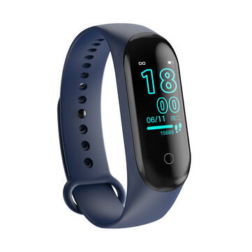 Bakeey M4 Max IPS Color Screen Wristband IP68 Blood Pressure O2 Long Standby Fitness Smart Watch