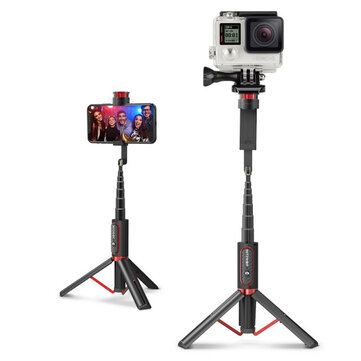 BlitzWolf® BW-BS10 Sport All In One Portable Tripod Selfie Stick with 1/4 Screw Port for Camera Mobile Phones