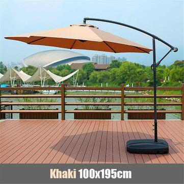 Εν όψη καλοκαιριού ομπρέλα σε πολύ χαμηλή τιμή. 100x195x160cm Waterproof Sunshade Beach Umbrella Fabric Cloth Canopy Parasol Tent Cover