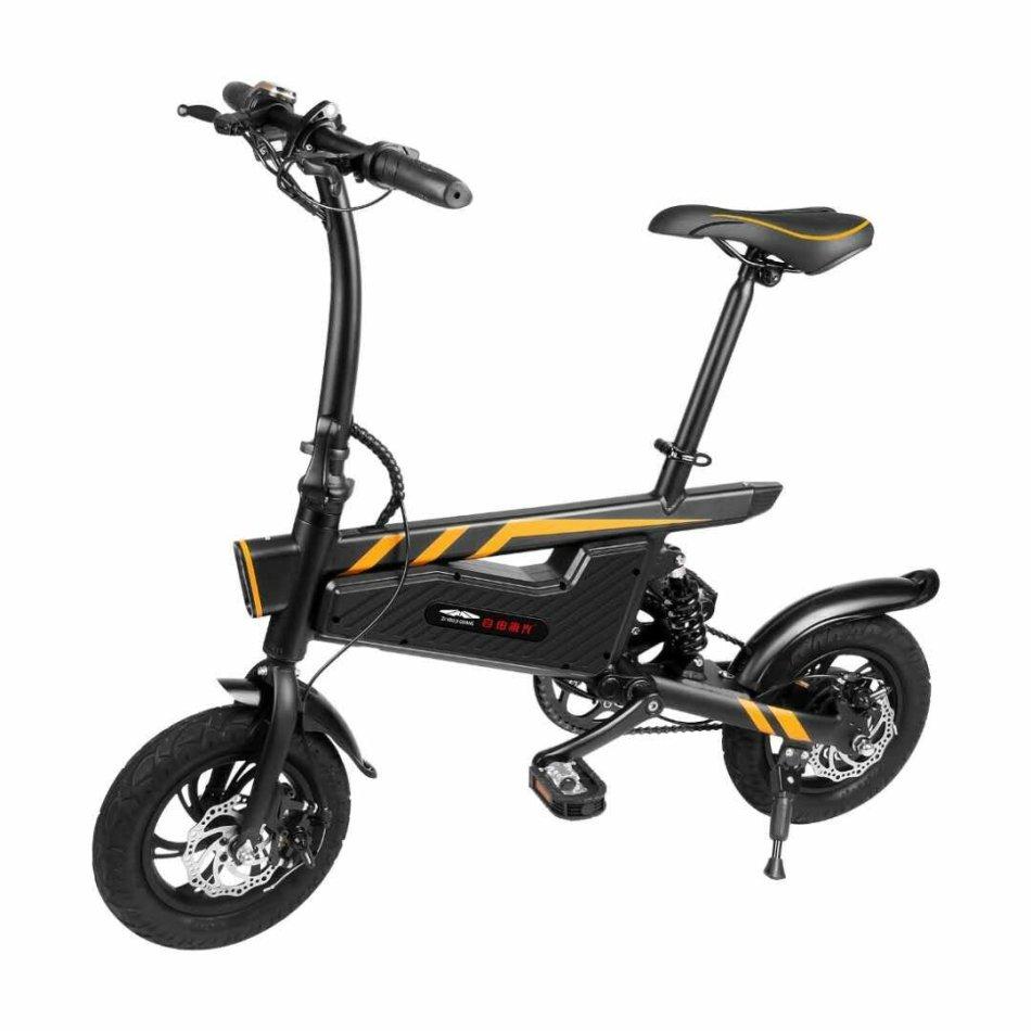 [EU DIRECT] ZIYOUJIGUANG 15.74inch 250W 36V 6AH Folding Electric Bike 25Km/h Top Speed 25-50Km Range Mileage 120Kg Max Load Electric Bicycle
