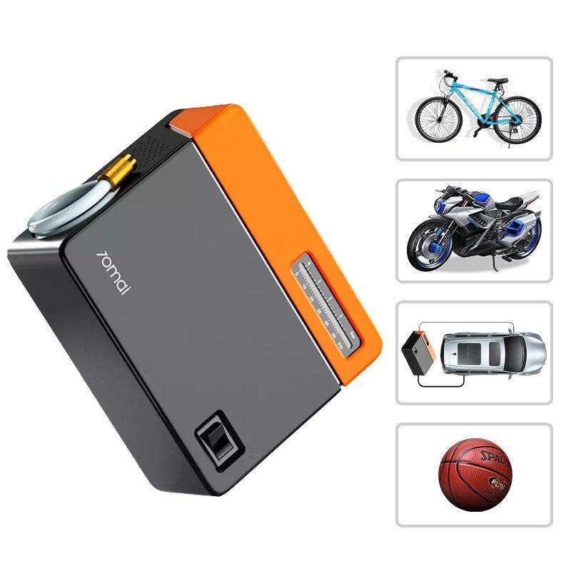 70mai Electric Air Pump Mini Multifunction 12V Quiet Smart Bike Tyre Inflators Linear Digital Inflator for Bike Car Basketball Outdoor Cycling