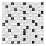 Modern Black White 3d Brick Mosaic Tile Wall Paper Foil Bathroom Kitchen Home Decor Sticker
