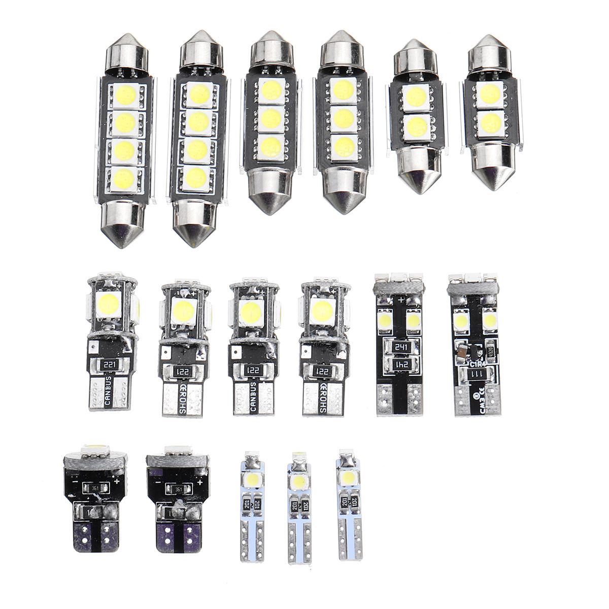 T10 T5 White Car Interior Led Lamp Replacement Bulb