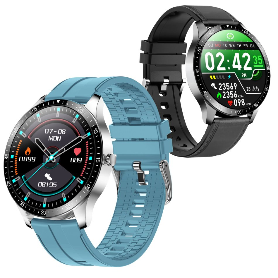 [bluetooth 5.0]SENBONO S80 Full Touch HD Screen Heart Rate Blood Pressure Monitor 30 Days Standby Multiple Watch Face IP68 Waterproof Ultra-thin Smart Watch