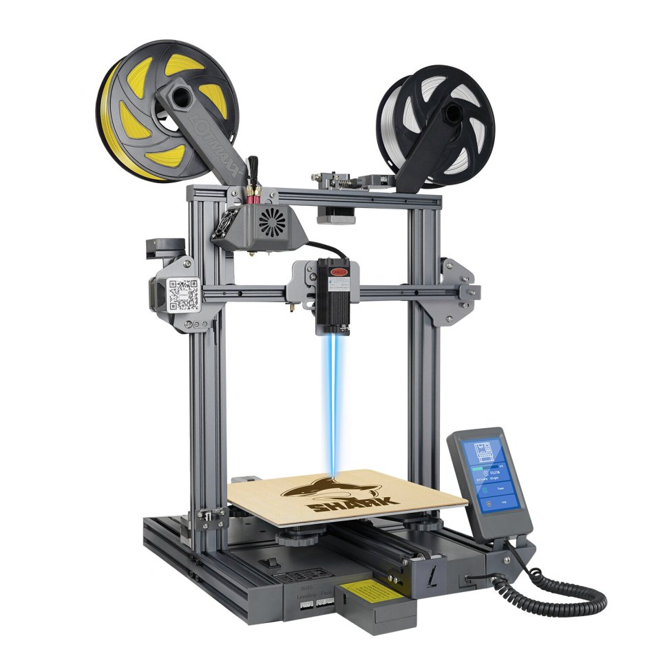 LOTMAXX SC-10 SHARK 3D Printer 235*235*265mm Print Size Support Auto Leveling/Dual Color Print/Laser Engraving With 8 Languages Translate