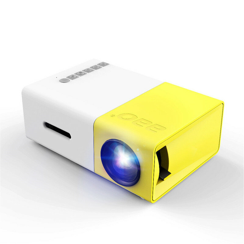 YG-300 LCD LED Projector 400-600 Lumens 320x240 800:1 Support 1080P Portable Office Home Cinema