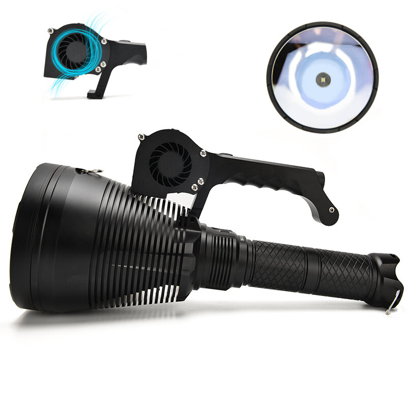 Astrolux MF05 SBT90.2 7500LM 2,500,000CD Powerful 18650 Flashlight with Cooling Fan 3162m Long Range Super Bright LED Searching Light