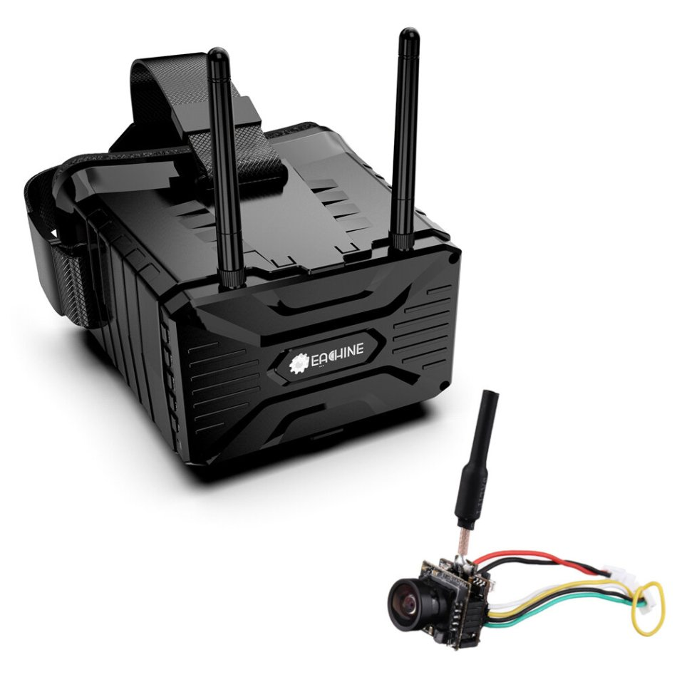 Eachine VR004 FPV Goggles 4.3 Inch 800x480 5.8Ghz 40CH 500lux Detachable Video Headset with DVR Replay 1200mAh Battery