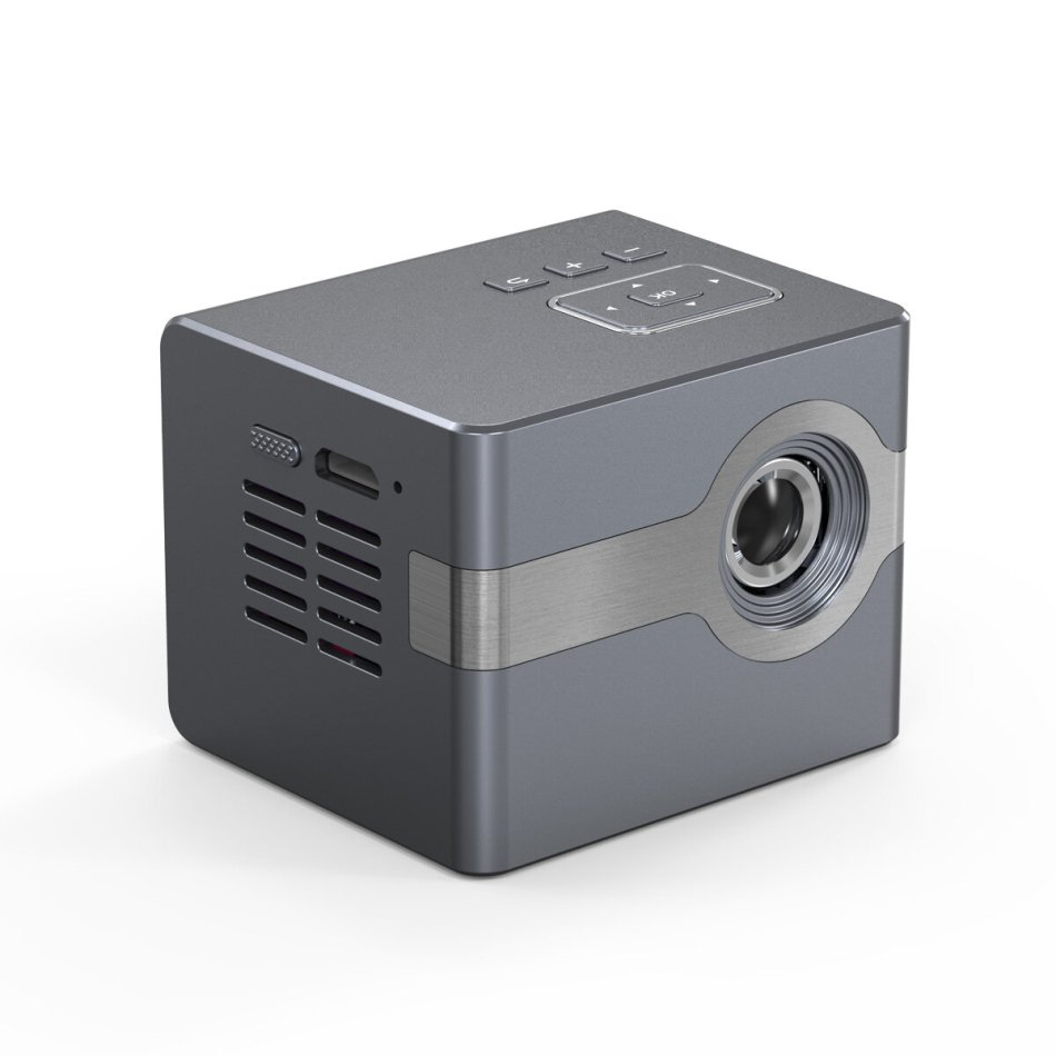C50 Mini DLP LED Projector 50ANSI Lumens 1080P Supported 120-Inch Size Multimedia Compatibility Mini Home Theater Outdoor Movie