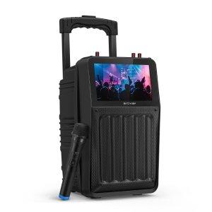Στα €67.64 από αποθήκη Τσεχίας | BlitzWolf® BW-DM1 30W TFT Screen Wireless Party Karaoke Speaker with TFT Screen, HiFi Sound, Wireless Microphone, Multiple Ports, 3000mAh Battery Capacity