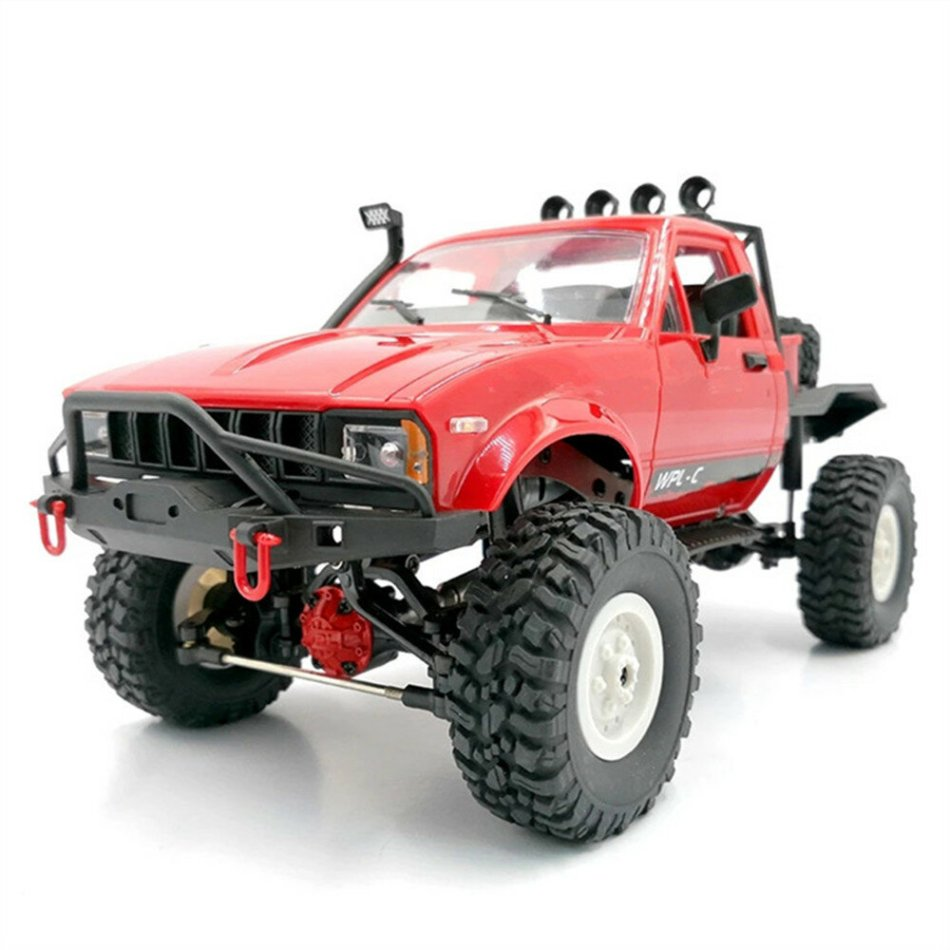 WPL C14KM 1/16 4WD RC Car Vehicles Kit with Dual Speed Gear Case Metal Drive Shaft Axle Case Brass Gear