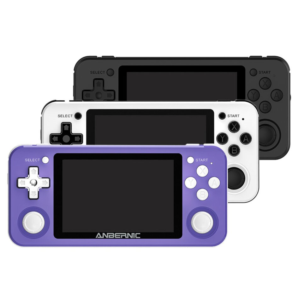 ANBERNIC RG351P 64GB 2500 Games IPS HD Handheld Game Console Support PSP PS1 N64 GBA GBC MD NEOGEO FC Games Player 64Bit RK3326 Linux System OCA Full Fit Screen