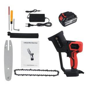 Στα 42€ σε προσφορά από αποθήκη Κίνας | 8inch 21V 1500W Electric Chainsaw Cordless One-Hand Saw Chain Saw Woodworking