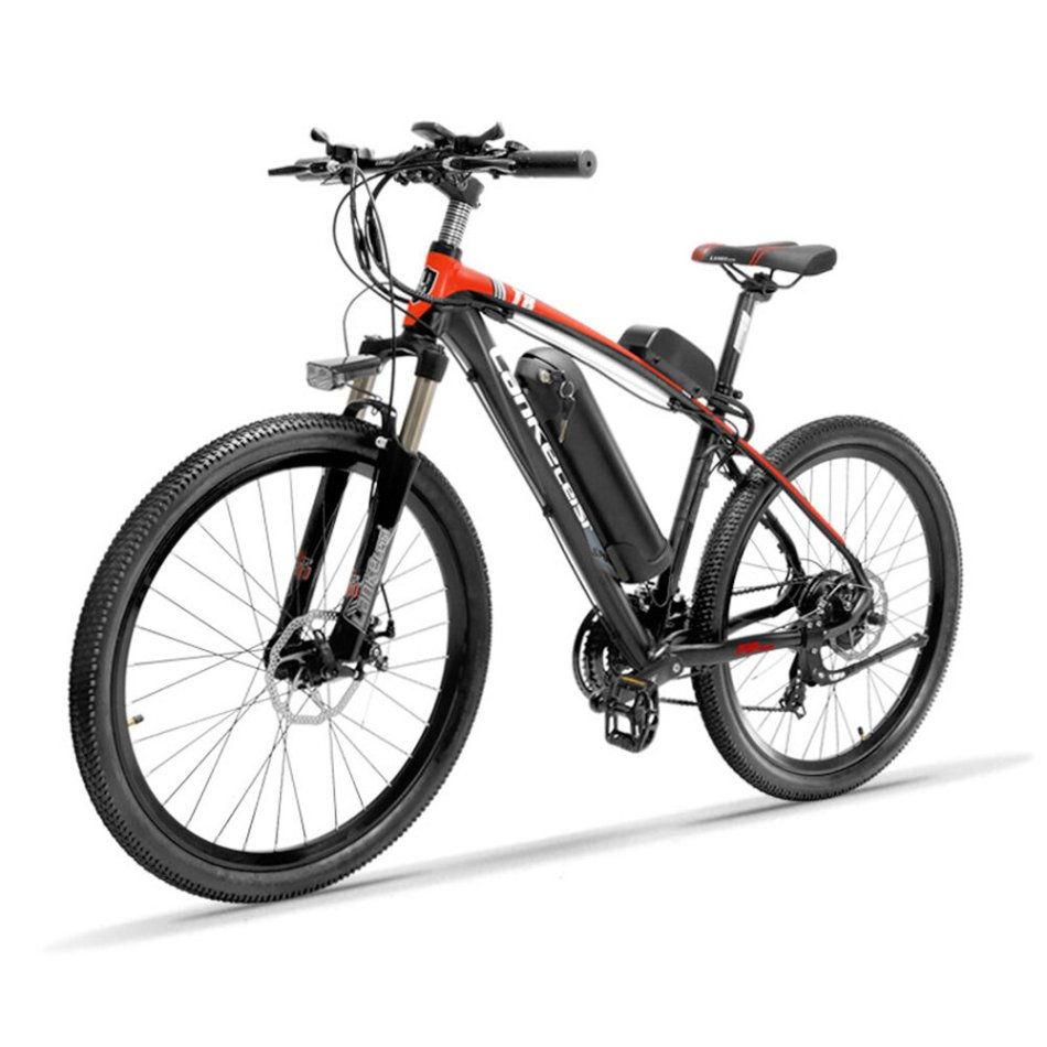 LANKELEISI T8 10.4Ah 48V 400W Folding Moped Bicycle 26Inch 100Km Mileage Max Load 120kg With EU Plug Electric Bike