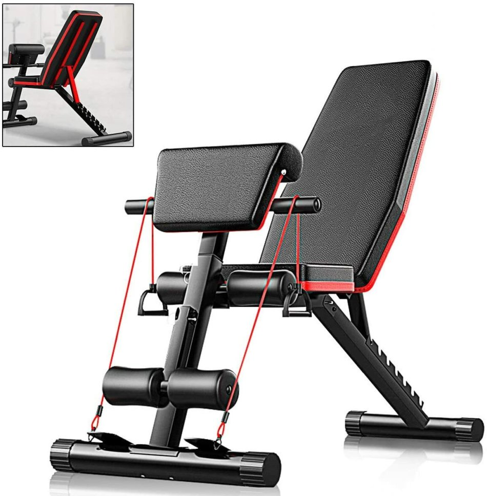 Bominfit WB1 5-in-1 Gym Bench Multifunctional Supine Board Foldable Abdominal Training Machine Bodybuilding Home Fitness Equipment