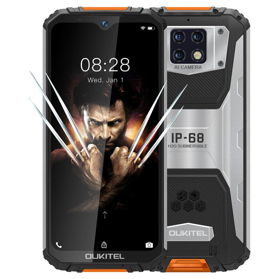 OUKITEL WP6 Global Version 6.3 inch FHD+ IP68 Waterproof 10000mAh Battery Android 9.0 48MP Triple Rear Camera 6GB RAM 128GB ROM Helio P70 Octa Core 4G Smartphone