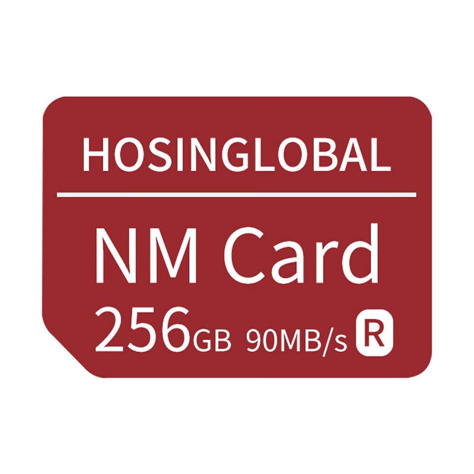 HOSINGLOBAL NM Card Memory Card 90MB/s Smart Flash Card 128GB 256GB for HUAWEI Mate40/P30/P40