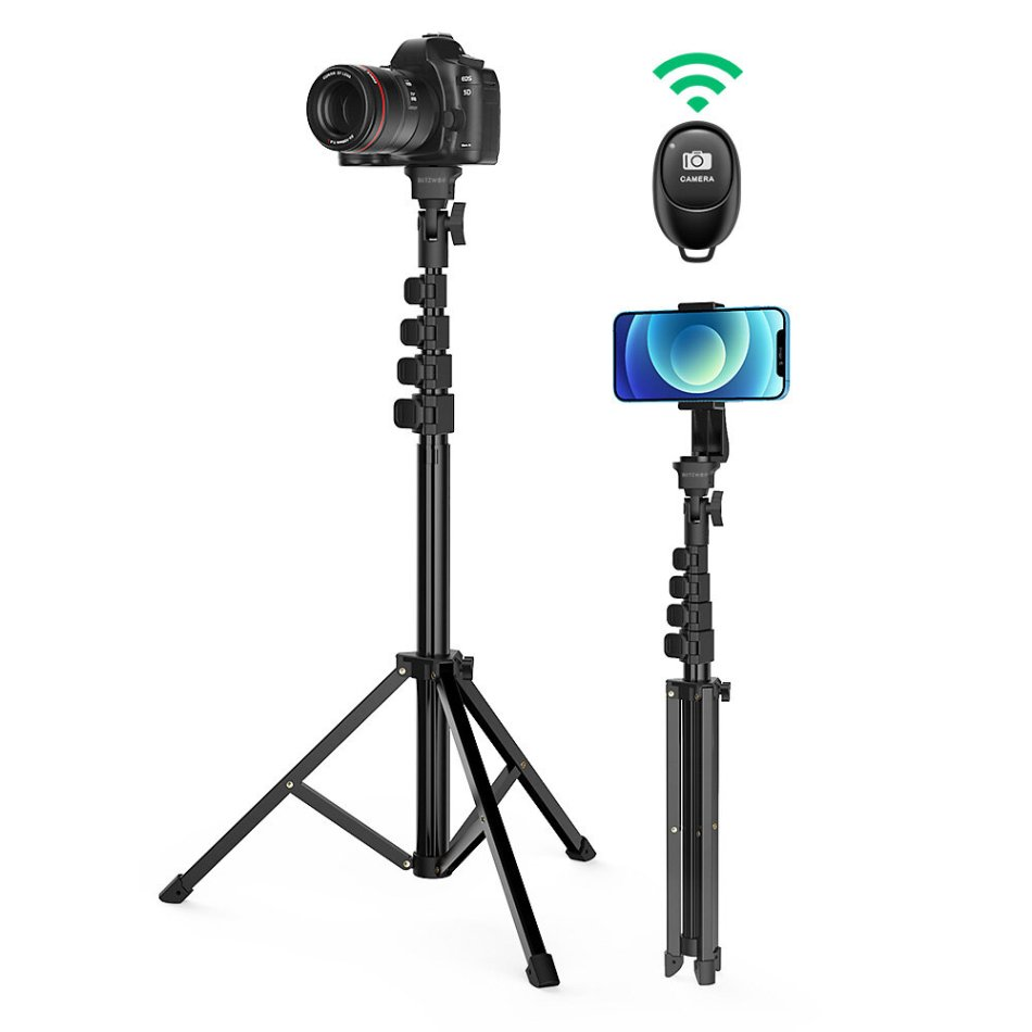 BlitzWolf® BW-STB1 Stable Tripod Selfie Stick Wireless Remote Shutter Multi-angle Professional Portable Selfie Stick for Phones Cameras Ring Light