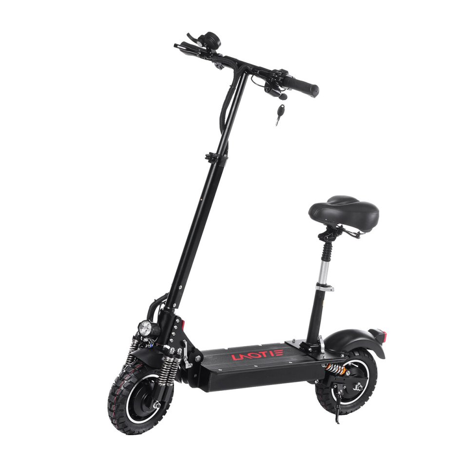 LAOTIE ES10P 2000W Dual Motor 28.8Ah 21700 Battery 52V 10 Inches Folding Electric Scooter with Seat 70km/h Top Speed 100km Mileage Max Load 120kg