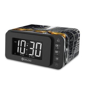 Αποθήκη Κίνας | Digoo DG-FR8888 Multi-function Smart Touch Botton Digital Alarm Clock with FM Radio Speaker Memory Function Dual Daily Alarms