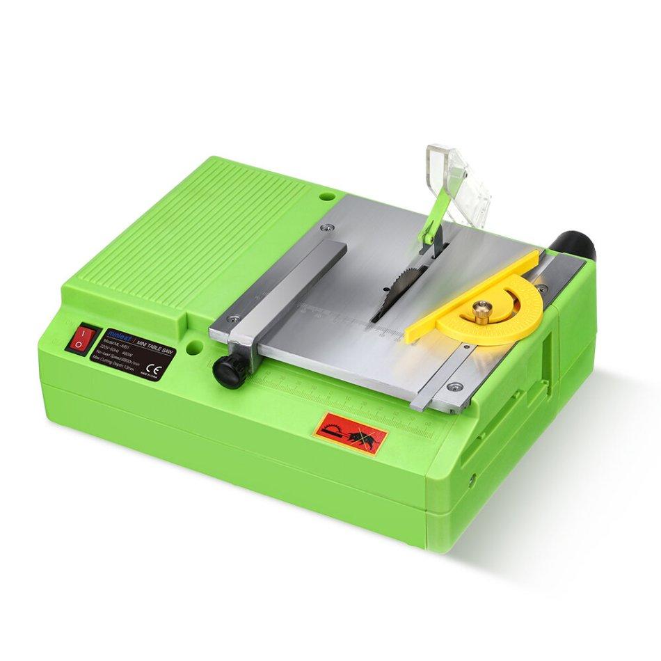 Minleaf ML-MS1 220V 480W Mini Portable Table Saw Multifunctional Handmade Woodworking Bench Saws Cutting Tool