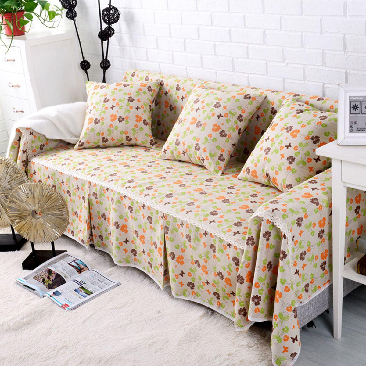 Sofa Cover Couch Slipcover Cotton Blend 1 4 Seater Sofa Protector Chair Covers Pet Dog