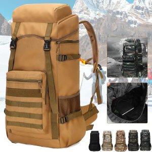70λιτρα τσάντα σε τιμή χώμα στα 24€ από αποθήκη Τσεχίας | 70L Outdoor Waterproof Military Tactical Backpack Camping Hiking Backpack Trekking Camouflage Travel Shoulder Backpack