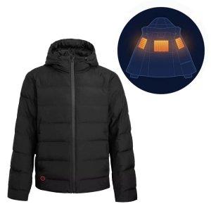 Στα 65€ από αποθήκη Κίνας | Cotton Smith Men Winter Rechargeable Adjustable Electric Heated Jacket Down Thermal Warmer Coats Washable Waterproof Soft Rainproof Down Jacket