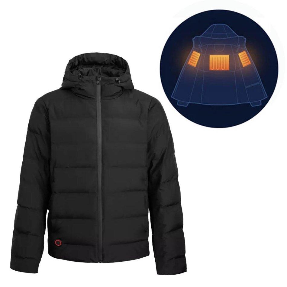 Cotton Smith IP64 Smart Intelligent Heating Goose Down Jacket From Xiaomi Youpin USB Electric Charging Waterproof Rainproof
