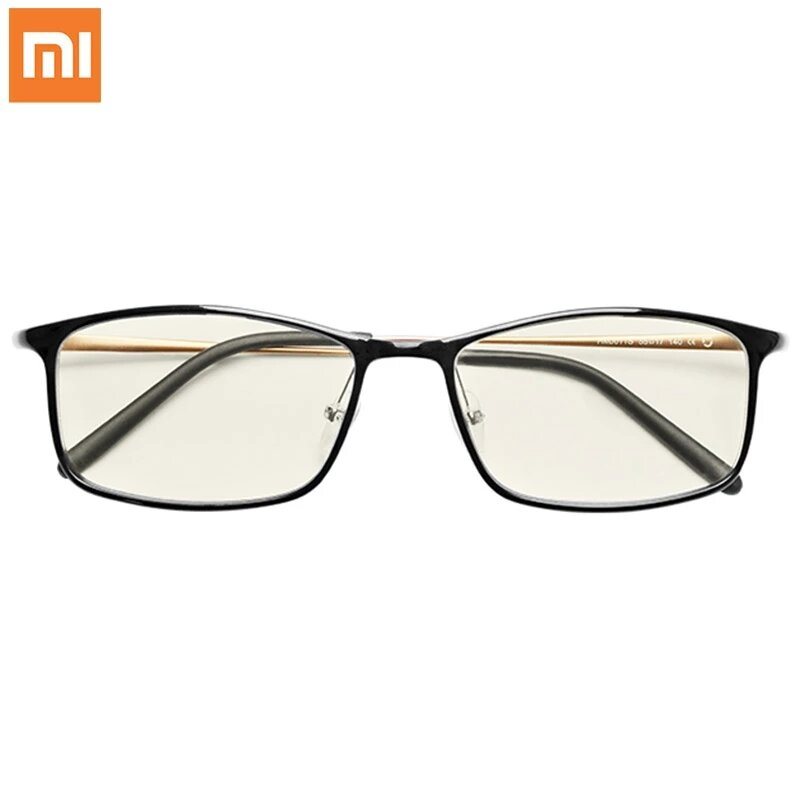 Xiaomi Mijia Anti-Blue Glasses 40% Blocking Rate UV Fatigue Proof Eye Protector Xiaomi Mi Home Anti Blue Ray Protective Goggles Glasses - Black