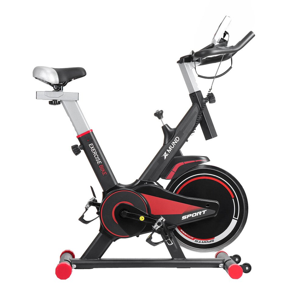 Xmund XD-EB1 LCD Exercise Bike Indoor Cycling Ultra-quiet Adjustment Sports Bicycle Fitness Equipment with Wheels Max Load 130kg