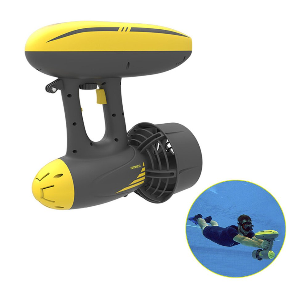 SMACO 2-in-1 600W Electric Underwater Propeller Water Dual Speed Scooter Diving Scuba Propeller Water Sports Equipment Support Waterproof Camera