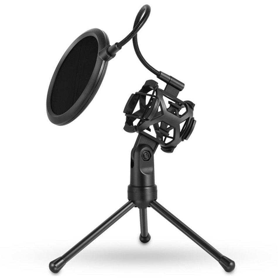 Bakeey Microphone Filter Holder Stick Desktop Tripod Stand Anti-Spray Net Kit