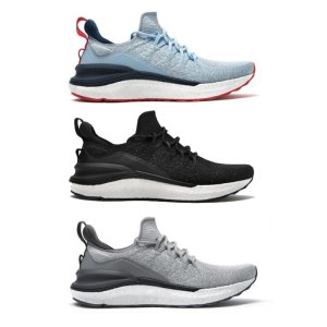 Στα 37.00 € από αποθήκη Κίνας | Xiaomi Mijia Sneakers 4 Machine Washable Ultralight Cloud Elastic PU Midsole 4D Fly Woven Fishbone Lock System Antibacterial Sports Running Shoes Men Sneakers