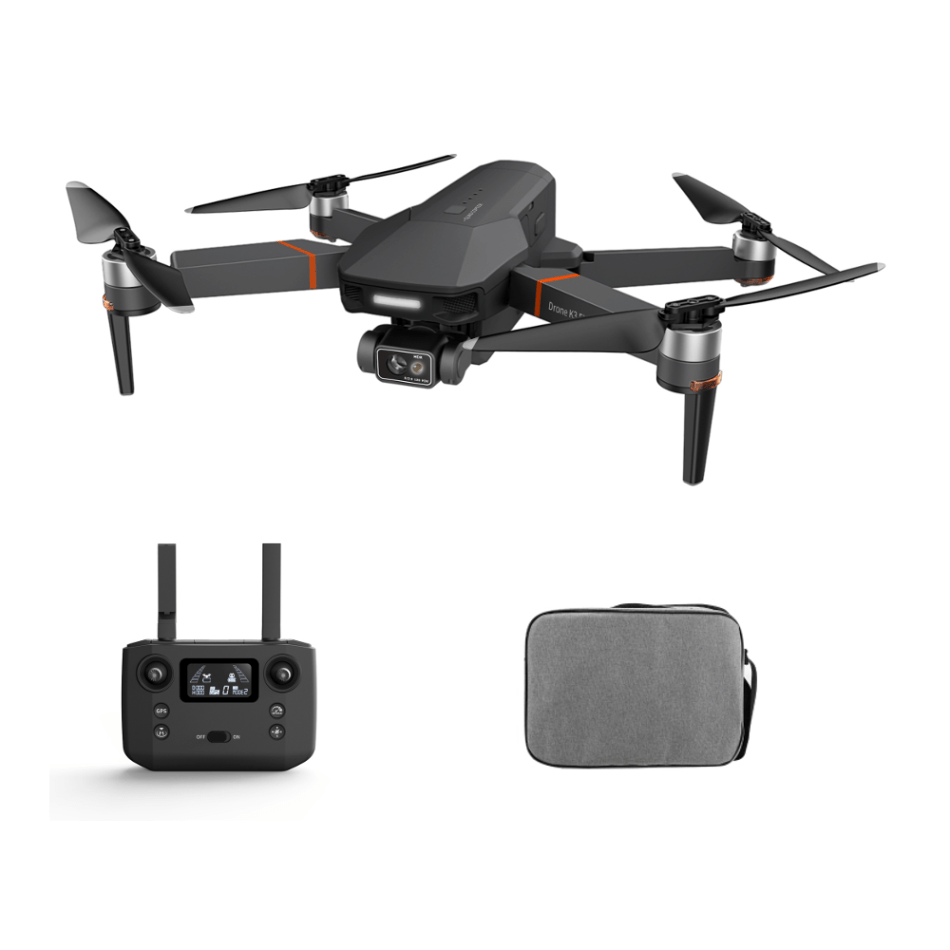 VISUO K3 GPS 5G WIFI 1KM FPV with 3-Axis Mechanical Gimbal EIS 2.7K Camera 25mins Flight Time Brushless Foldable RC Drone Quadcopter RTF