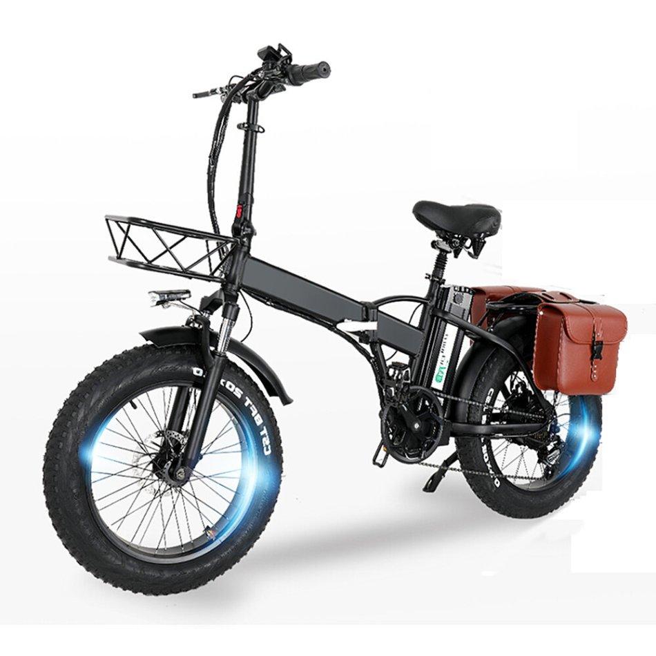 [EU Direct] CMACEWHEEL GW20 48V 15Ah 750W 20in Folding Electric Bike with Bag 30-45km/h Speed 80-100KM Mileage Electric Bicycle E Bike
