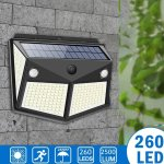 Στα 8€ από αποθήκη Κίνας | ARILUX 260LED Outdoor Solar Light IP65 Waterproof Motion Sensor Solar Light Garden Courtyard Passage Security Lighting Black