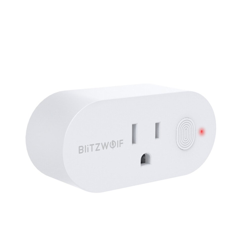 BlitzWolf® BW-SHP12 15A 1875W US Plug Smart WIFI Switch APP Remote Controller Timer Socket Work with Amazon Alexa Google Home Assistant