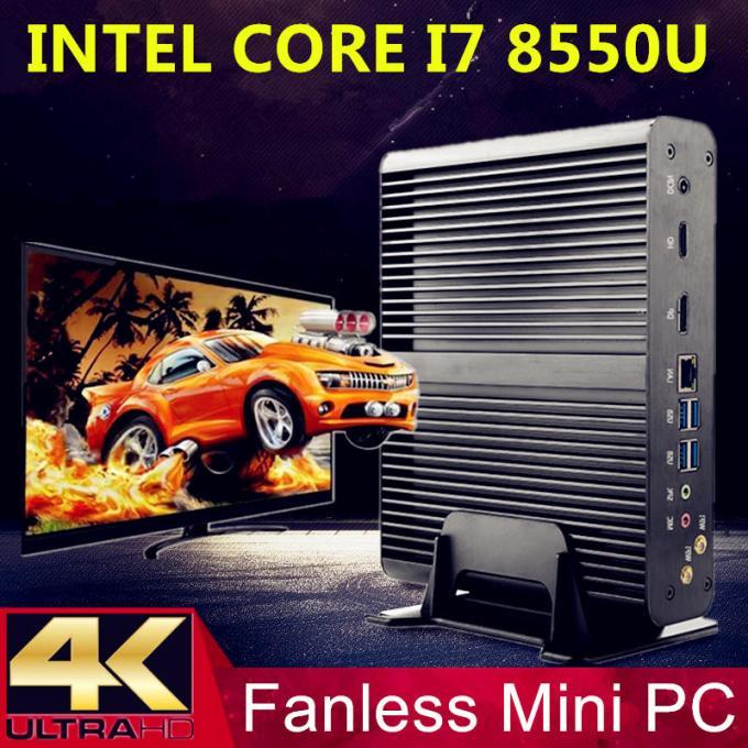 Eglobal V7 Mini PC I78550U Wi Quad HD Graphics 620 16GB+128GB/16GB+256GB/16GB+512GB 2* Msata M.2 Micro PC 4K Fanless HTPC Nuc VGA HDMI 16GB+128GB